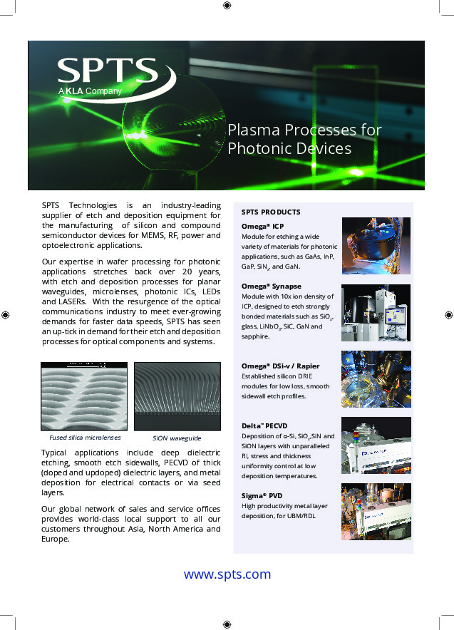 Plasma Processes for Photonic Devices