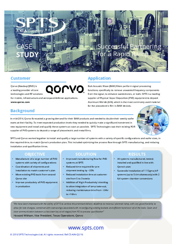 "Qorvo - ""Successful Partnering for a Rapid Ramp"""